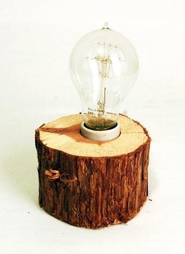 Rustik Meşe Lamba-Oldwooddesign